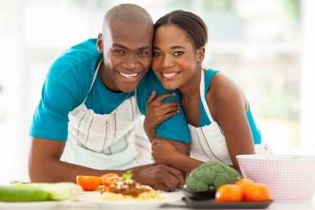 Couple With Healthy Food-1